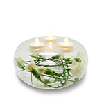 "Tealight Candle Holder Clear, H-4.5"", Open-7.5"" (Pack of 12pcs - $4.85 ea)"