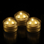 Amber Submersible LED Lights (Pack of 6pcs) Free Shipping