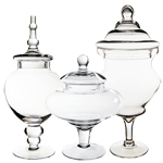Candy Buffet Apothecary Jars (Set of 3) *GAJ115, GAJ108/10, GAJ127*