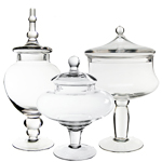 Candy Buffet Apothecary Jars (Set of 3) *GAJ115, GAJ108/10, GAJ120*