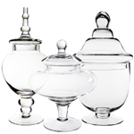 Candy Buffet Apothecary Jars (Set of 3) *GAJ115, GAJ108/10, GAJ126*
