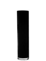 "Black Cylinder Vase H-15.75"", Open D - 4"", Pack of 4 pcs"