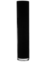"Black Cylinder Vase H-20"", Open D - 4"", Pack of 4 pcs"