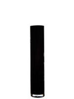 "Black Cylinder Vase H-26"", Open D - 6"", Pack of 4 pcs"