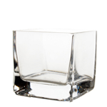 "Cube Vase. H-3.33"", Pack of 24 pcs"