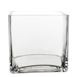 "Cube Vase. H-4.75"" , Pack of 6 pcs"