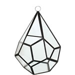 "Hanging Geometric Terrarium Diamond Shape with Chain. H-9"", pack of 12 pcs"