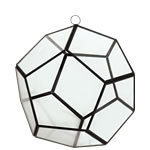 "Geometry Prism 6"" Terrarium Glass with Chains. Pack of 12 pcs"