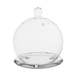"Glass Mini Cloche. H-4.5"", Pack of 48 pcs"