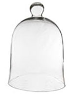"Glass Bell Cloches with Knob. H-16"", Wholesale Pack of 2 pcs"