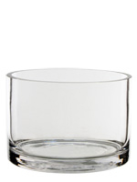 "Glass Cylinder Vases. H-4"",  Open D - 6"", Pack of 12 pcs"