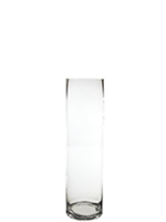 "Glass Cylinder Vases. H-16"",  Open D - 6"", Pack of 4 pcs"