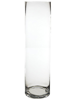 "Glass Cylinder Vases. H-24"",  Open D - 6"", Pack of 4 pcs"