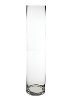 "Glass Cylinder Vases. H-24"",  Open D - 5"" , Pack of 4 pcs"
