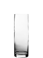 "Glass Cylinder Vases. H-12"",  Open D - 4"", Pack of 12 pcs"