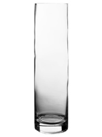 "Glass Cylinder Vases. H-20"",  Open D - 4"", Pack of 6 pcs"