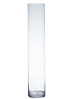 "Glass Cylinder Vases.  H-40"", Open D - 6"", Pack of 4 pcs"