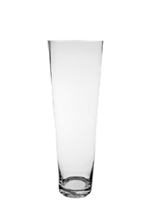 "Taper Down Glass Cylinder Vases.  H-24"", Open D - 6.75"", Btm - 4.25"", Pack of 2 pcs"