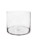 "Glass Cylinder Vases.  H-8"", Open D - 10"" , Pack of 4 pcs"