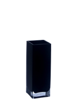 "Block Vase: Pure Black Open-4""x4"", H-12"" (Pack of 12pcs - $10.10 ea)"