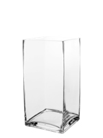 "Square Vase. H-12"", Pack of 6 pcs"