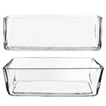 "Rectangle Vase. H-4"", Pack of 6 pcs"