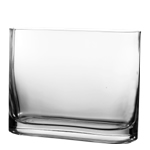 "Rectangle Vase. H-7.5"", Pack of 6 pcs"