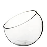 "Half Cut Slant Cut Bowl. H-7"", Pack of 8 pcs"