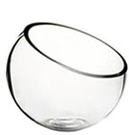 "Half Cut Slant Cut Bowl. H-9"", Pack of 6 pcs"