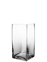 "Square Vase. H-10"", Pack of 6 pcs"