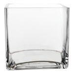 "Cube Vase. H-6"", Pack of 6 pcs"