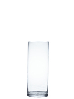 "Glass Cylinder Vases.  H-22"", Open D - 8"", Pack of 2 pcs"