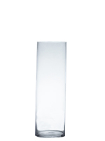 "Glass Cylinder Vases.  H-28"", Open D - 8"", Pack of 4 pcs"