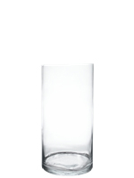 "Glass Cylinder Vases.  H-24"", Open D - 10"", Pack of 2 pcs"