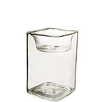 "Reversible Square Tealight Candle Holder. H-4"", Pack of 108 pcs"