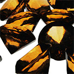 Acrylic Diamond Vase Fillers, Pack of 24 bags, Color: Amber