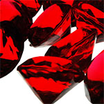 Acrylic Diamond Vase Fillers, Pack of 24 bags, Color: Red