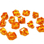 Acrylic Rocks Vase Fillers, Pack of 24 bags, Color: Orange