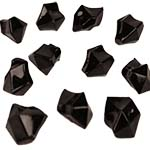 Acrylic Rocks Vase Fillers, Pack of 24 bags, Color: Black