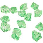 Acrylic Rocks Vase Fillers, Pack of 24 bags, Color: Green