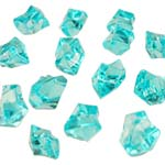 Acrylic Rocks Vase Fillers, Pack of 24 bags, Color: Light Blue