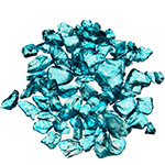 Crushed Colored Glass. Color:  Light Blue, Pack of 24 bags