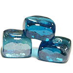 "Glass Ice Cubes.  Color:  Light Blue, D-1""*1"", Pack of 24 bags"