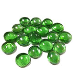 "Flat Glass Gem Marbles. Color: Green, D-0.6"", Pack of 26 bags (Free Shipping)"