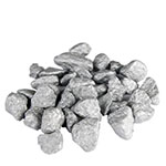 Crushed Colored Rocks, Pack of 12 bags, Color: Silver