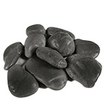 River Stones, River Rocks, Pack of 12 bags, Color: Black