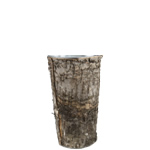 "Zinc Cylinder Vase with Birch Wood Wrap. H-9"",Pack of 30 pcs"